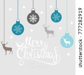 merry christmas and new year... | Shutterstock . vector #777282919