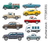 pickup car vector auto delivery ... | Shutterstock .eps vector #777285331