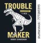 robot dinosaur vector... | Shutterstock .eps vector #777285595