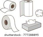 tissue paper cartoon vector...   Shutterstock .eps vector #777288895
