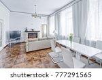 living room interior in modern...   Shutterstock . vector #777291565