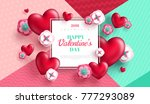 valentine's day concept...   Shutterstock .eps vector #777293089