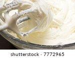 Close Up Of Cream Cheese...