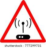 wifi hotspot icon. wireless... | Shutterstock . vector #777299731