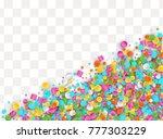 colored carnaval confetti...   Shutterstock .eps vector #777303229