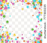 colored carnaval confetti...   Shutterstock .eps vector #777303235