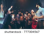 group of friends having fun at...   Shutterstock . vector #777304567