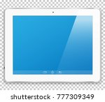 realistic tablet computer with... | Shutterstock .eps vector #777309349
