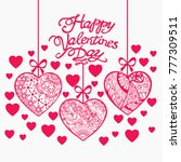 romantic valentine day hand... | Shutterstock .eps vector #777309511