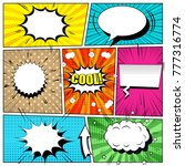 comic book bright background... | Shutterstock .eps vector #777316774