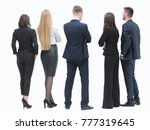 rear view. group of business... | Shutterstock . vector #777319645