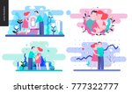 reproduction   set of vector... | Shutterstock .eps vector #777322777