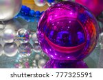 bright specular new year's... | Shutterstock . vector #777325591