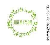 green leafs logo | Shutterstock .eps vector #777328189