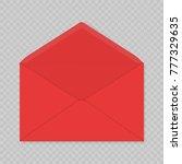 realistic blank open envelopes... | Shutterstock .eps vector #777329635