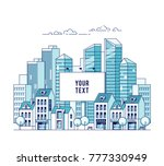a big city billboard for... | Shutterstock .eps vector #777330949
