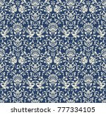 seamless victorian pattern.... | Shutterstock .eps vector #777334105