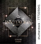 vip invitation card with... | Shutterstock .eps vector #777335041