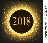 new year in golden circle ... | Shutterstock .eps vector #777339121