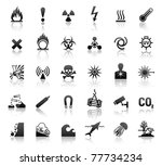 black symbols danger icons | Shutterstock .eps vector #77734234
