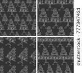 pattern cake doodle vector  | Shutterstock .eps vector #777347431