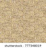 seamless waved pattern | Shutterstock .eps vector #777348019