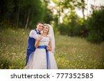 wedding couple in love. bride... | Shutterstock . vector #777352585