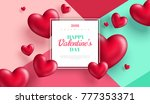 valentine's day concept .... | Shutterstock .eps vector #777353371