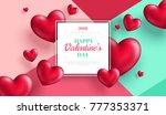 valentine's day concept .... | Shutterstock .eps vector #777353371