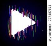glitch play symbol design.... | Shutterstock .eps vector #777357535
