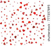 heart confetti of valentines... | Shutterstock .eps vector #777357895