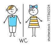 wc icon. toilet door plate icon.... | Shutterstock .eps vector #777362224