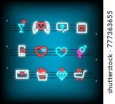 message  mail  sale  box neon...   Shutterstock .eps vector #777363655