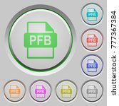 pfb file format color icons on... | Shutterstock .eps vector #777367384