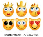 set of emoji. smileys vector... | Shutterstock .eps vector #777369751