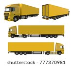 set large yellow truck with a... | Shutterstock . vector #777370981
