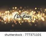 christmas background with... | Shutterstock . vector #777371101