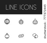 set of 6 editable cooking icons ...