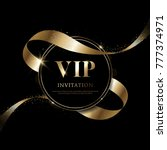luxury vip invitations and... | Shutterstock .eps vector #777374971
