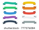 vector ribbons in flat colors.... | Shutterstock .eps vector #777376084