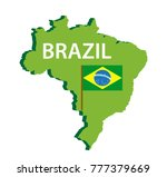 map and flag of brazil icon.... | Shutterstock .eps vector #777379669