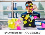 businessman with reminder notes ... | Shutterstock . vector #777388369