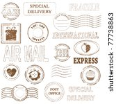 vector stamp set collection | Shutterstock .eps vector #77738863
