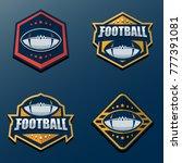 set of american football logo... | Shutterstock .eps vector #777391081