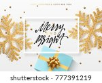 christmas background with gifts ...   Shutterstock . vector #777391219