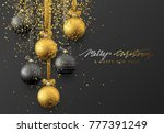 christmas greeting card  design ... | Shutterstock . vector #777391249