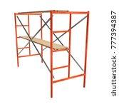 scaffolding metal construction...   Shutterstock . vector #777394387