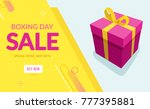 boxing day sale design with... | Shutterstock .eps vector #777395881