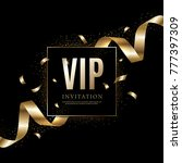 luxury vip invitations and... | Shutterstock .eps vector #777397309