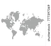 pixel map of world. vector... | Shutterstock .eps vector #777397369